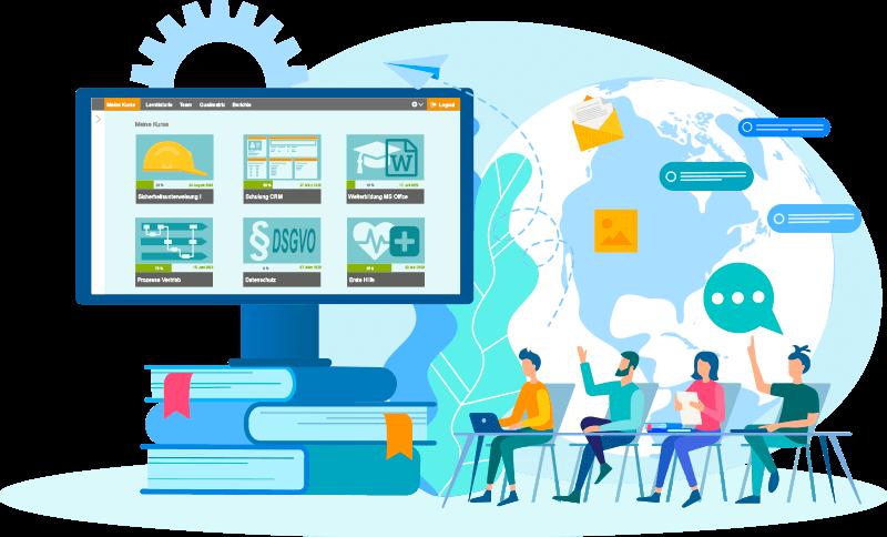 sycat eLU - Das Lernmanagementsystem ist komplett individuell konfigurierbar