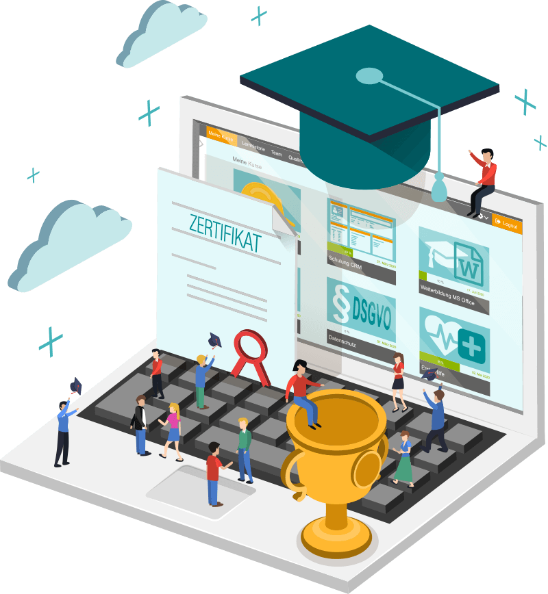 sycat eLU - Das Lernmanagementsystem für die erfolgreiche Weiterqualifizierung aller Mitarbeiter