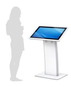 Online-Unterweisungen auf einem Standdisplay